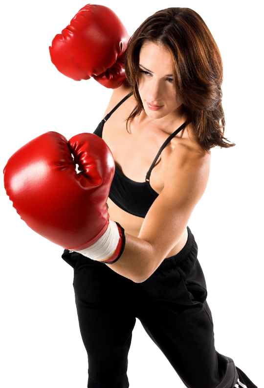 woman preforming upper cut