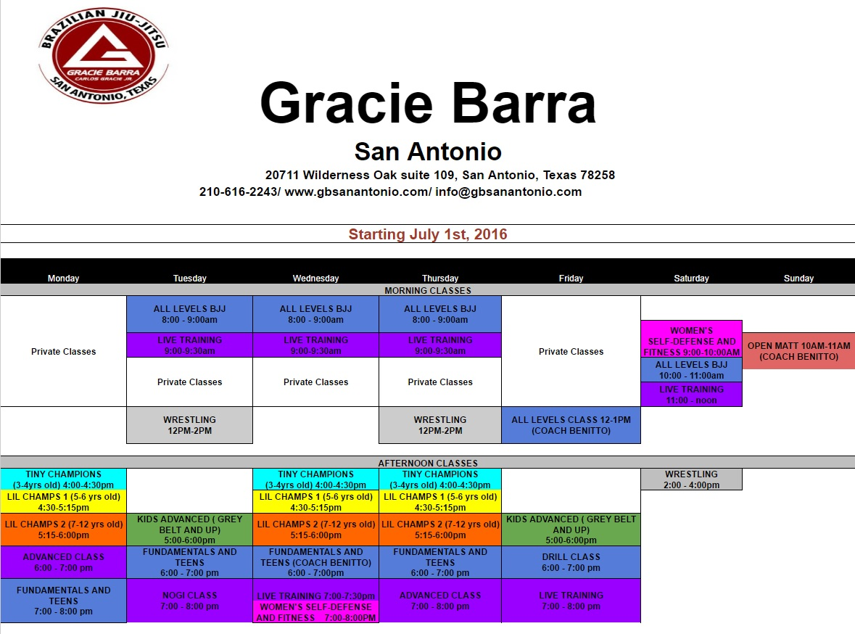 June, 2016 | Gracie Barra San Antonio Martial Arts School - Jiu ...
