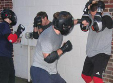 jeet kune do class in action in cambridge, MA
