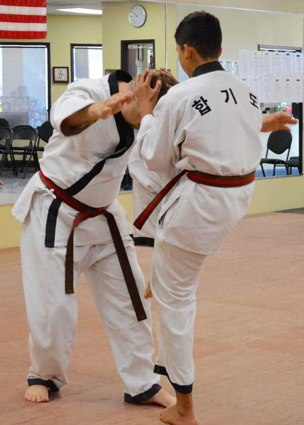 Adult Hapkido Kick at Legacy Martial Arts Training