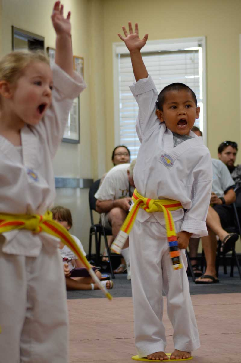 tiny tiger class student at Legacy Martial Arts Training