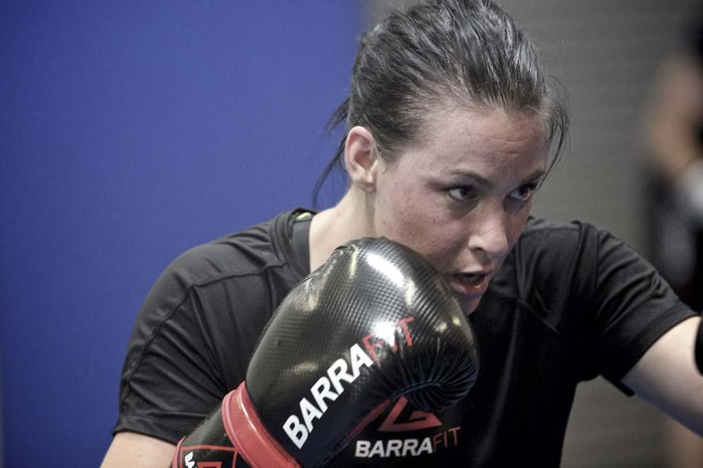 Woman punching