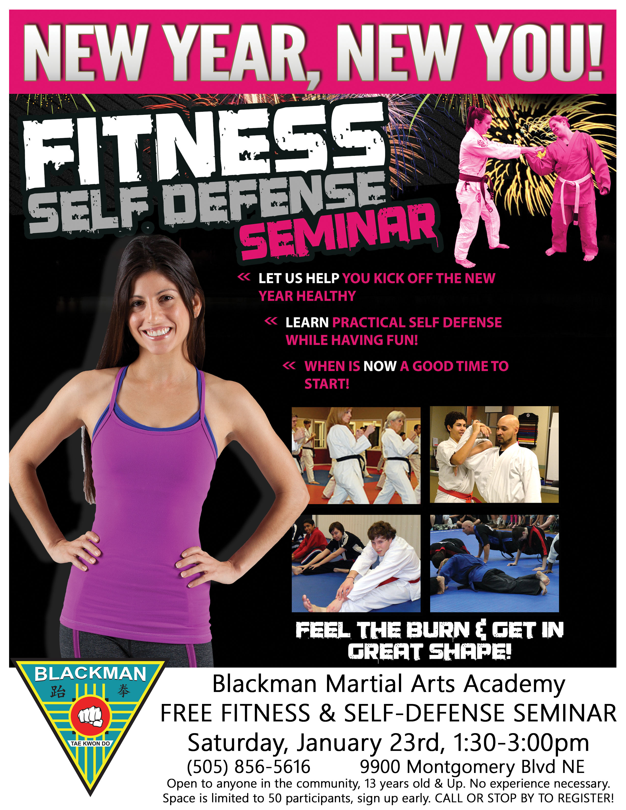 We Invite You To Attend Our Free Fitness Self Defense Seminar
