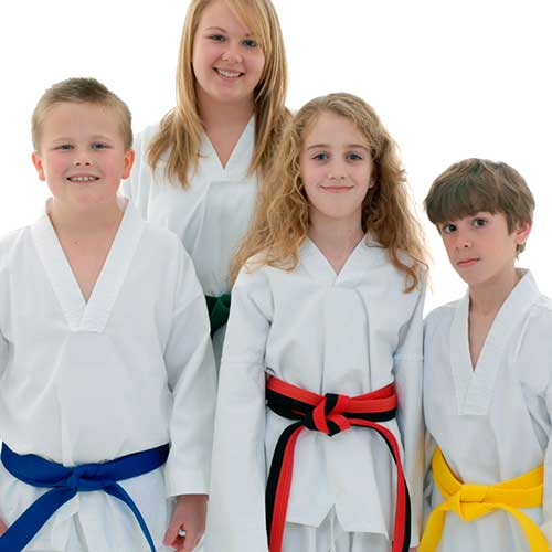 juniors karate at The Karate University, Weatherford, TX