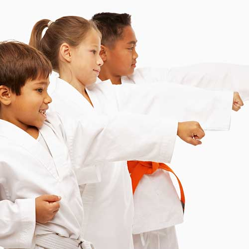 kids karate at The Karate University, Weatherford, TX