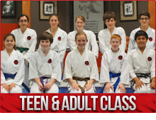 teens and adults karate classes burlington