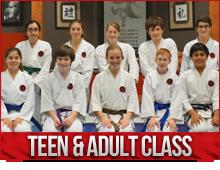 teens and adults karate classes burlington
