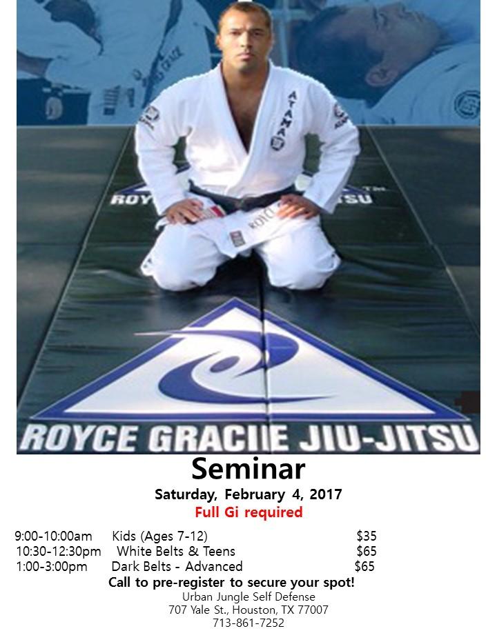 Royce Gracie Jiu-Jitsu Seminar feb. 4th