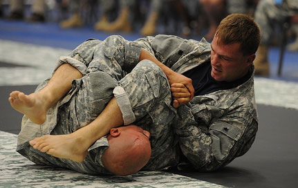 grappling in camo gi's