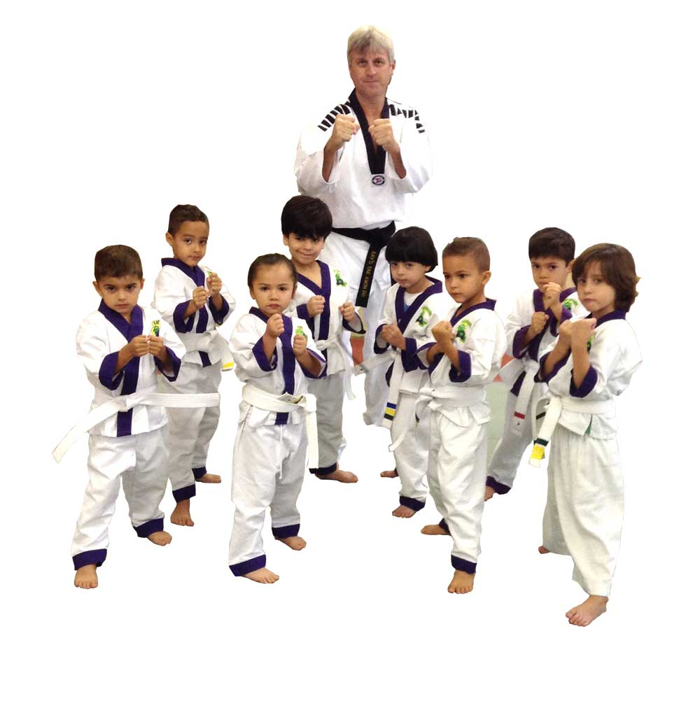 kids taekwondo group picture at Rays Tae Kwon Do Center