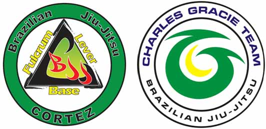 Brazilian Jiu Jitsu Cortez and Charles Gracie Team logos
