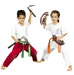 Boy and girl practicing at Lion's Den Karate - Lions Cubs Classes