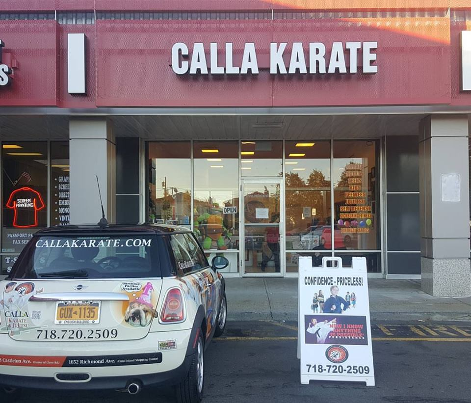 the front of calla karate dojo