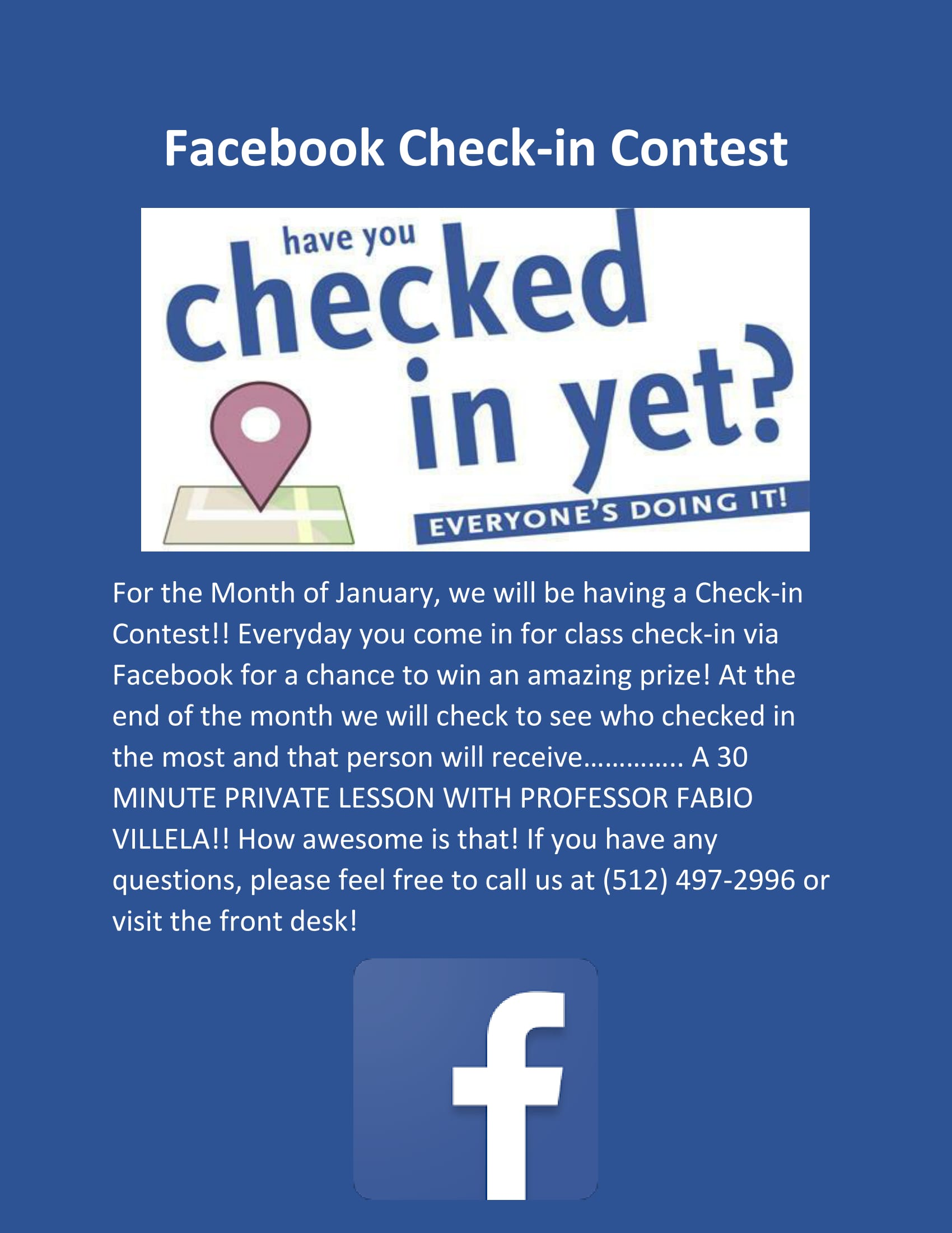 Facebook Check-In Contest