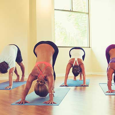 Yoga classes at e2 Yoga and Fitness, Mequon, Wisconsin