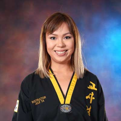 Instructor Julie Ta at Legacy Martial Arts Training