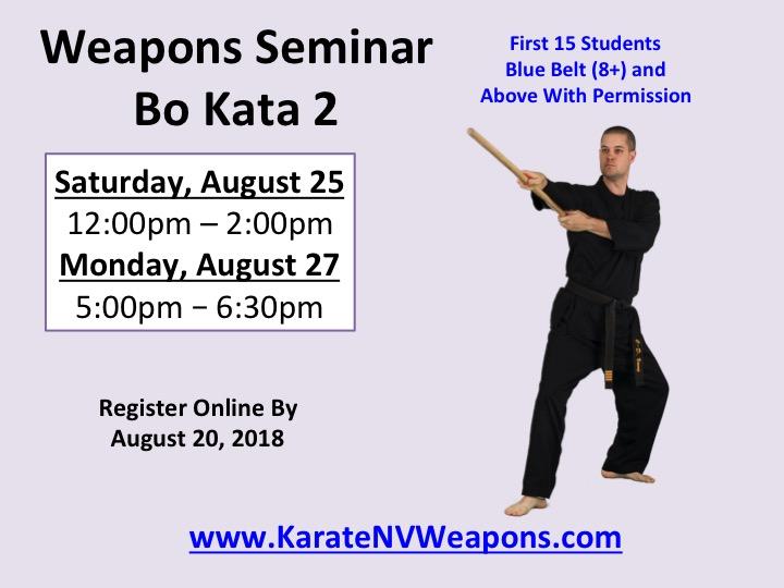 Henderson Karate Weapons