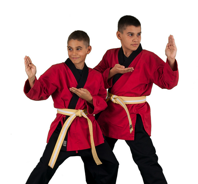 brothers taking karate class in henderson