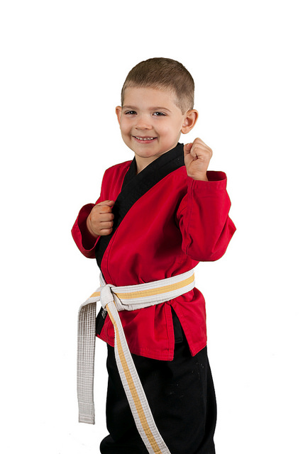 young boy taking karate class in henderson
