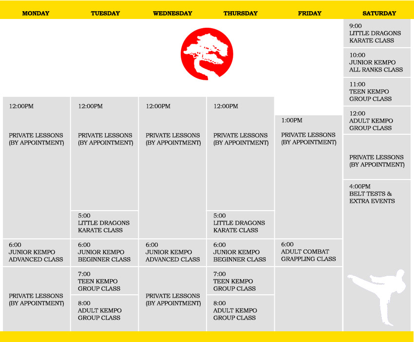 Our Class Schedule   USSD Sandy