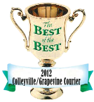 Award for the Best of the Best 2012 Colleyville/Grapevine Courier
