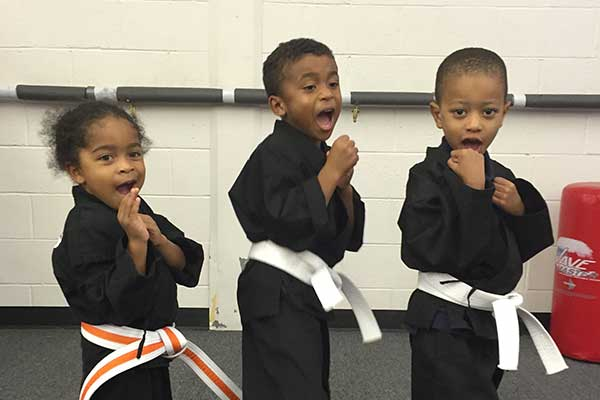 Preshool kids at LK Wells Martial Arts & Fitness