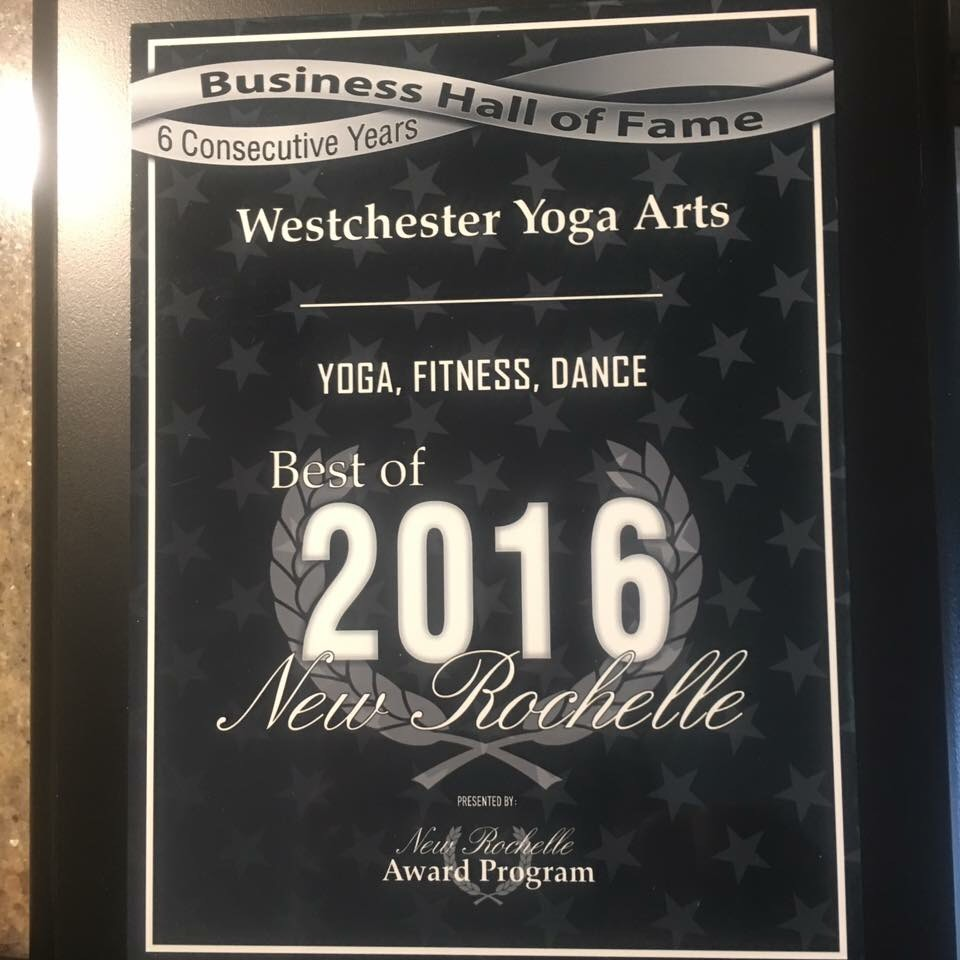 Award for best Yoga, Fitness and dance studio in 2016