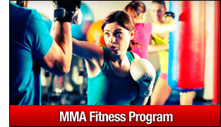ladies mma fitness class in action
